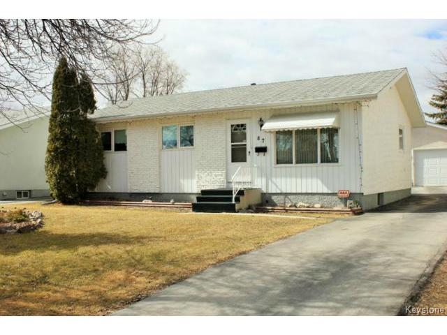 Main Photo: 87 Brian Street in WINNIPEG: North Kildonan Residential for sale (North East Winnipeg)  : MLS(r) # 1507604