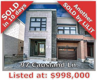 Main Photo: 97 Causland in Richmond Hill: Devonsleigh Freehold for sale