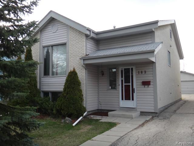 Main Photo: 183 Goldthorpe Crescent in WINNIPEG: St Vital Residential for sale (South East Winnipeg)  : MLS® # 1410836