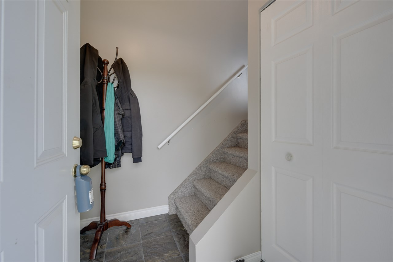 Entrance with closet space.