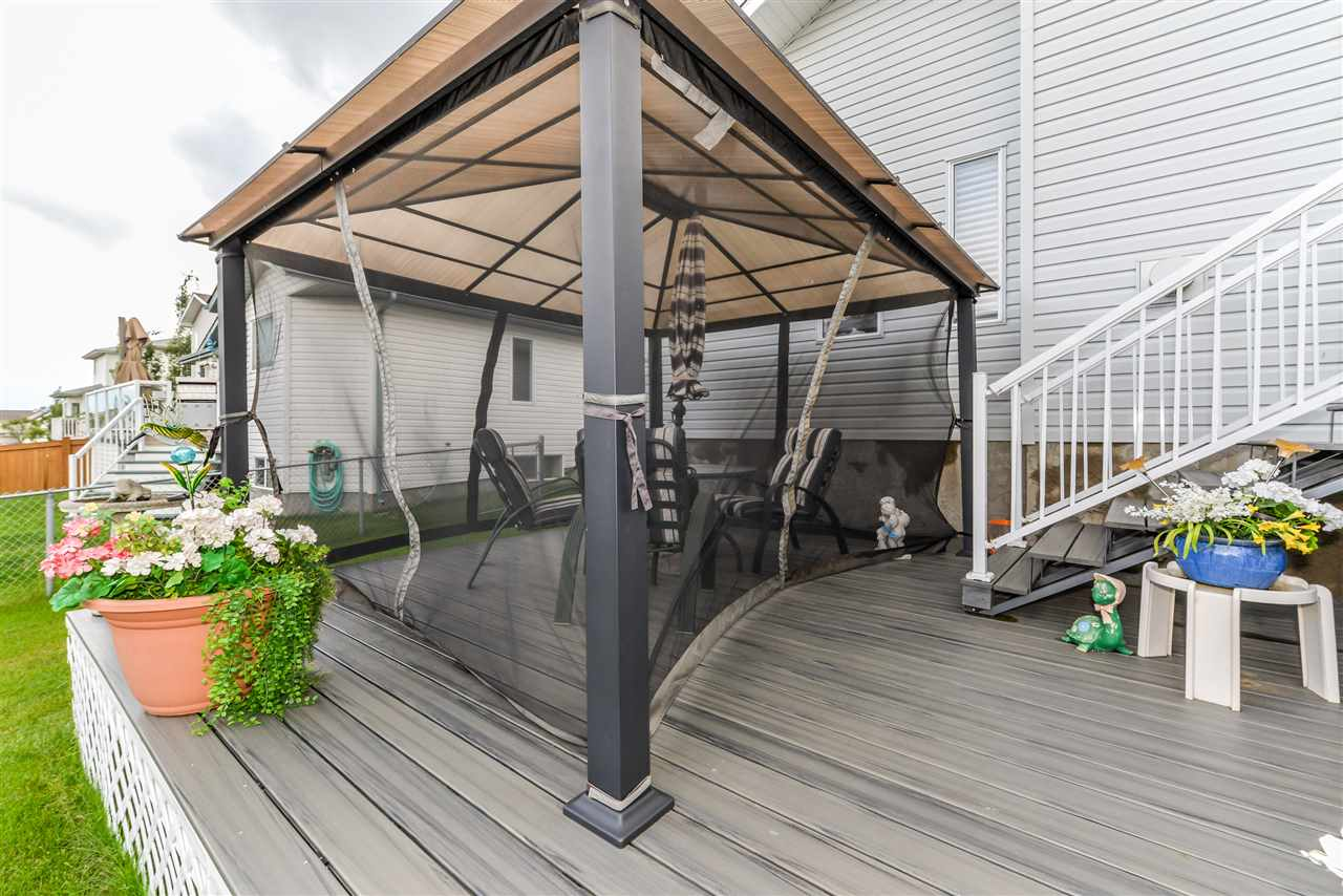 Lower level of the deck with a gazebo...