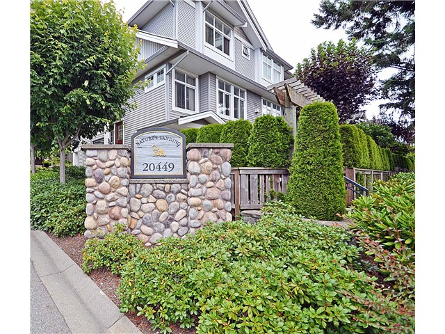 "Main Photo: 125 20449  66TH AV in Langley: Willoughby Heights Townhouse for sale in ""Nature's Landing"" : MLS® # F1302234"