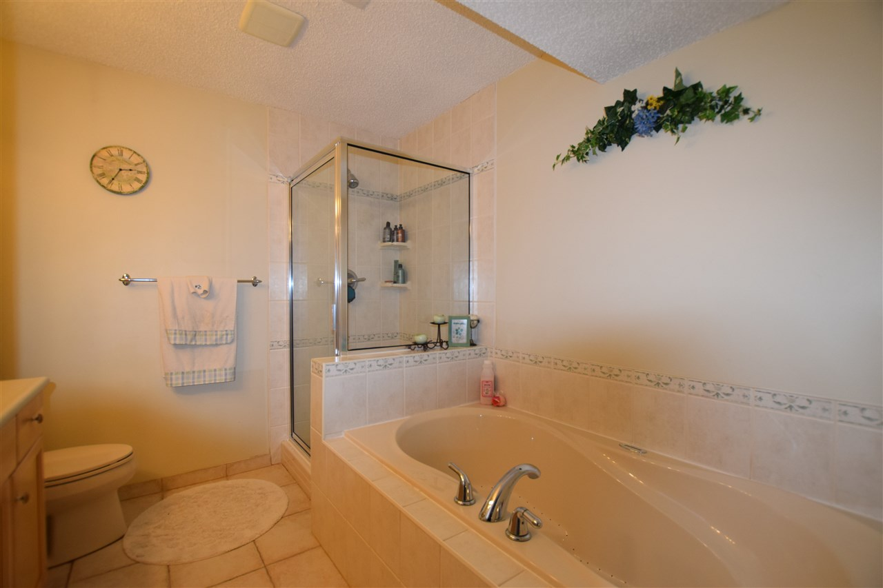 4 piece basement bathroom with side-by-side shower and bubble tub (Really Nice)