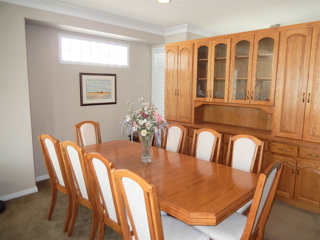 Formal dining room open to the living/kitchen.