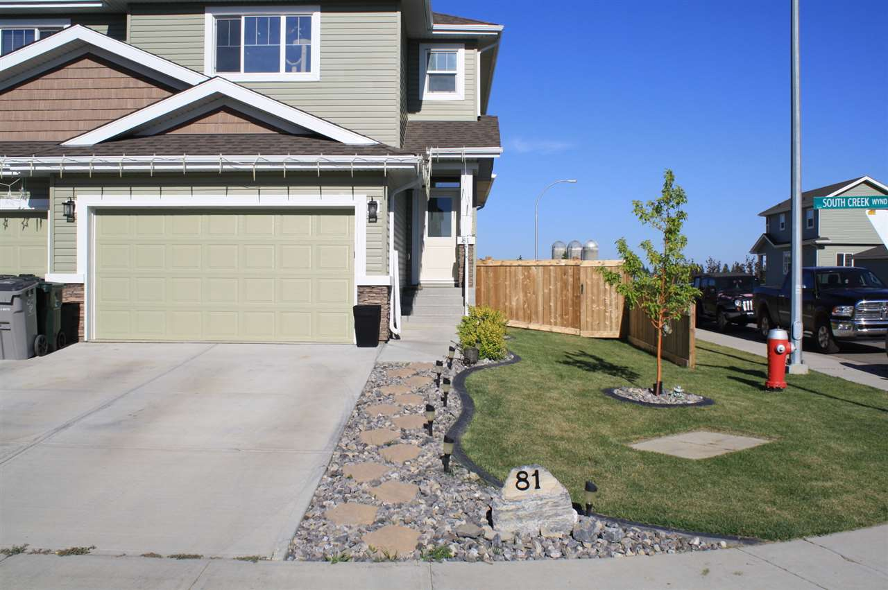 Main Photo: 81 South Creek Wynd: Stony Plain House Half Duplex for sale : MLS® # E4075764