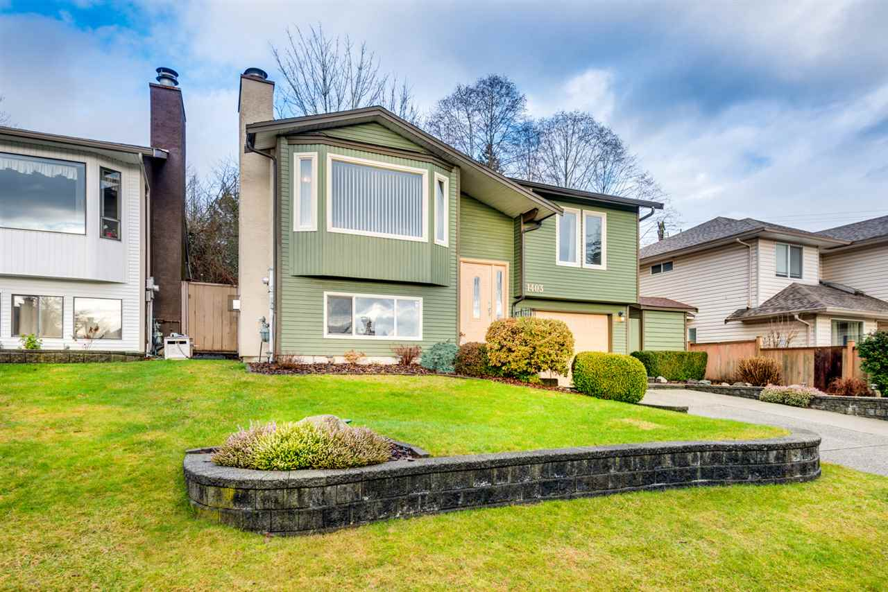 "Main Photo: 1403 GABRIOLA Drive in Coquitlam: New Horizons House for sale in ""New Horizons- Nestor"" : MLS®# R2236920"
