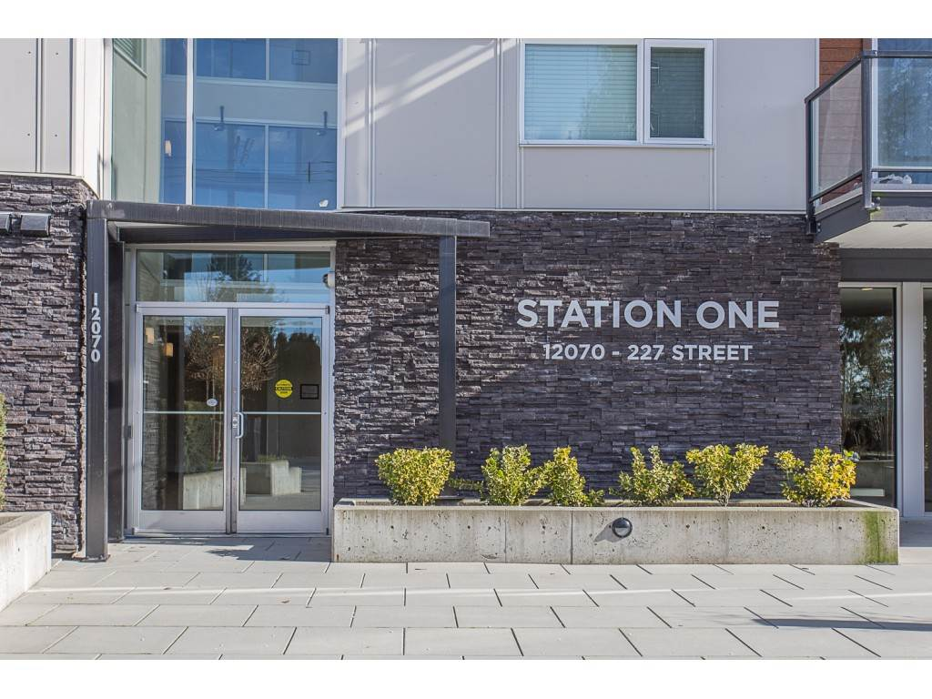 "Main Photo: 208 12070 227 Street in Maple Ridge: East Central Condo for sale in ""Station One"" : MLS®# R2241707"