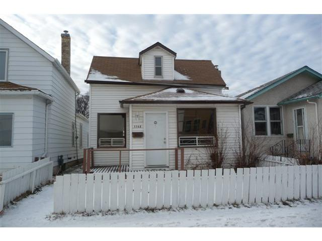 Main Photo: 1148 Garfield Street North in WINNIPEG: West End / Wolseley Residential for sale (West Winnipeg)  : MLS® # 1200133