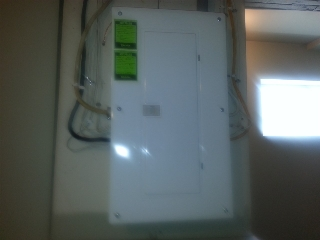 Upgraded 100 amp electrical box