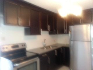 Brand new cabinets, stainless new refride & stove, granite counter top