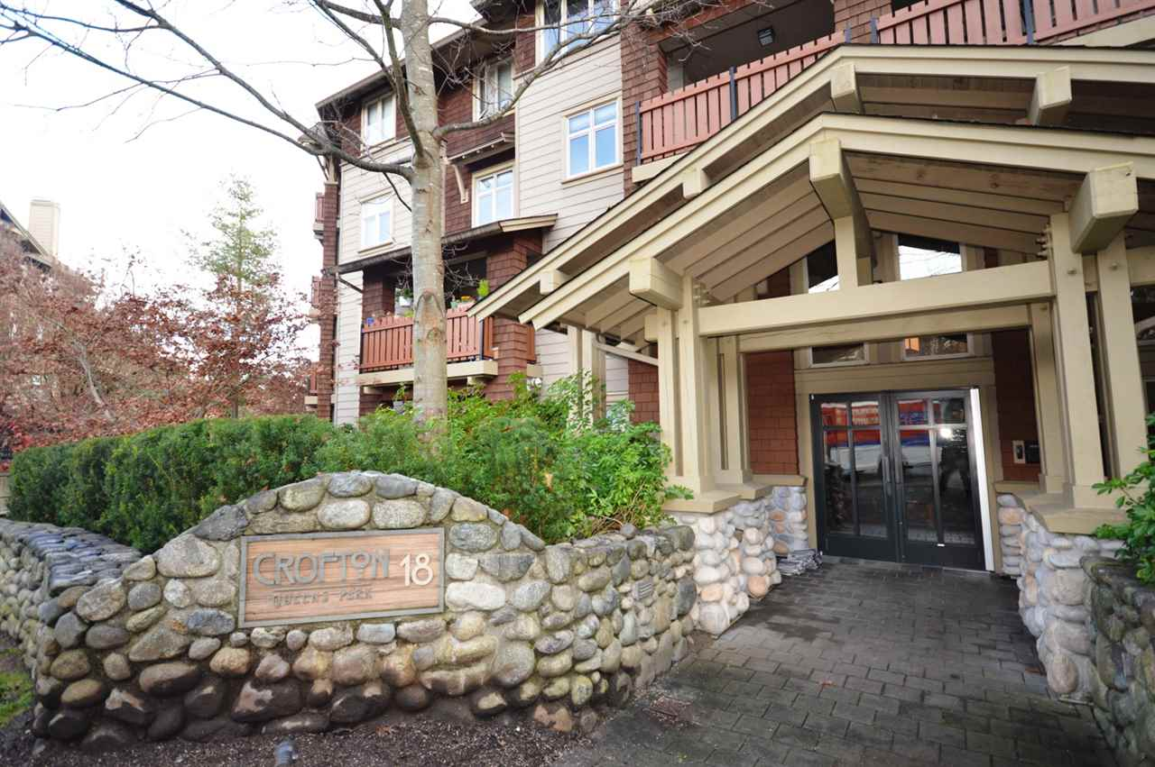"Main Photo: 101 18 SMOKEY SMITH Place in New Westminster: GlenBrooke North Condo for sale in ""CROFTON"" : MLS®# R2122657"