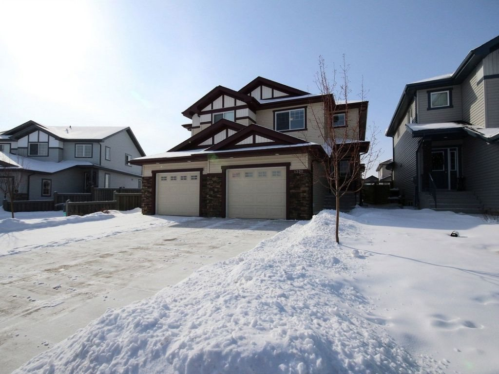 Main Photo: 1220 176 Street in Edmonton: Zone 56 House Half Duplex for sale : MLS(r) # E4054633