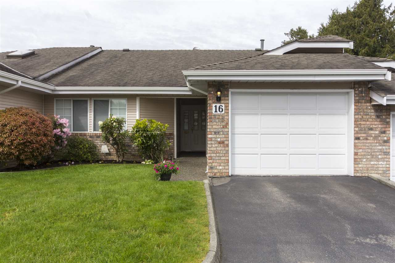 "Main Photo: 16 5051 203 Street in Langley: Langley City Townhouse for sale in ""Meadowbrook Estates"" : MLS(r) # R2163676"