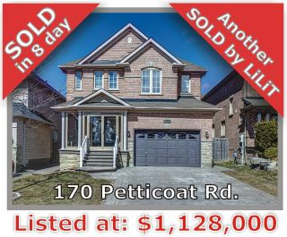 Main Photo: 170 Petticoat Rd in Vaughan: Patterson Freehold for sale