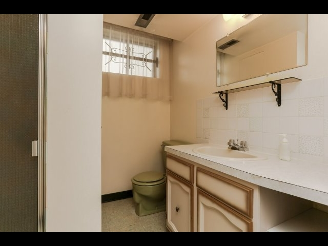3 pce. bathroom in the basement.