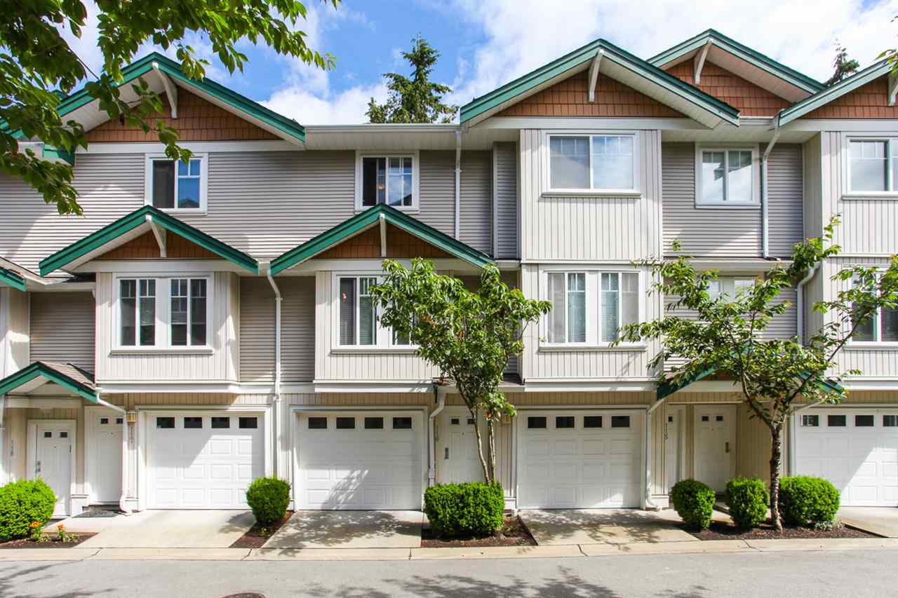 "Main Photo: 116 12711 64 Avenue in Surrey: West Newton Townhouse for sale in ""PALLETTE ON THE PARK"" : MLS® # R2076927"