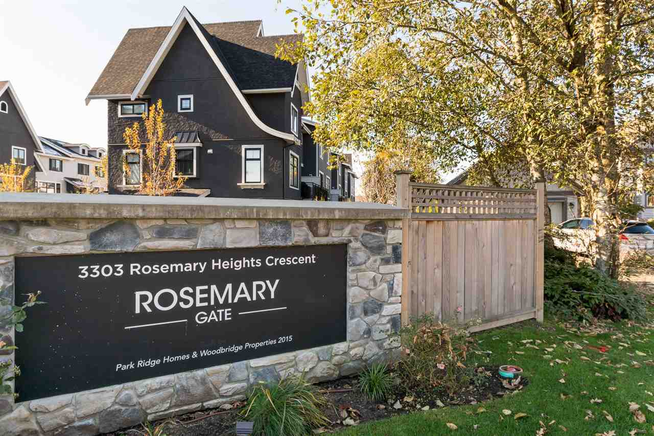 "Main Photo: 14 3303 ROSEMARY HEIGHTS Crescent in Surrey: Morgan Creek Townhouse for sale in ""ROSEMARY GATE"" (South Surrey White Rock)  : MLS® # R2220294"