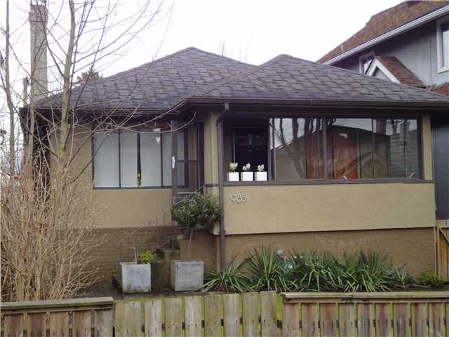 Main Photo: 985 W 23RD Avenue in Vancouver: Cambie House for sale (Vancouver West)  : MLS(r) # V876823