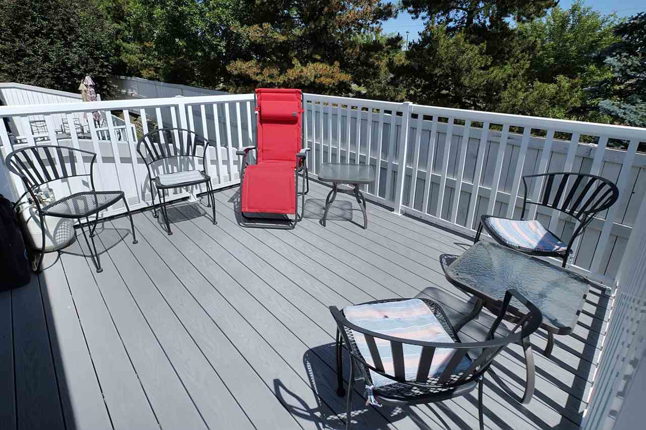 This deck was completely updated using TREX so it will be less maintenance to keep it updated. The condo fees look after exterior maintenance so the new decks will be a benefit to the condo fees in the future. The deck faces east for morning coffee.