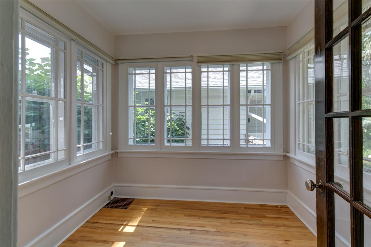 So much natural light in this room which would be perfect for an office