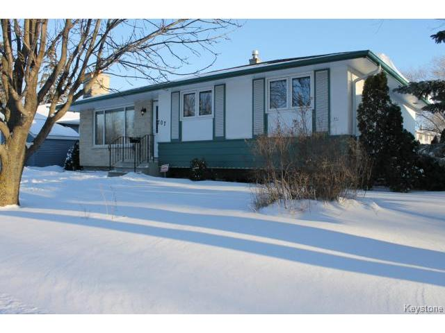 Main Photo: 707 Dale Boulevard in WINNIPEG: Charleswood Residential for sale (South Winnipeg)  : MLS®# 1500242