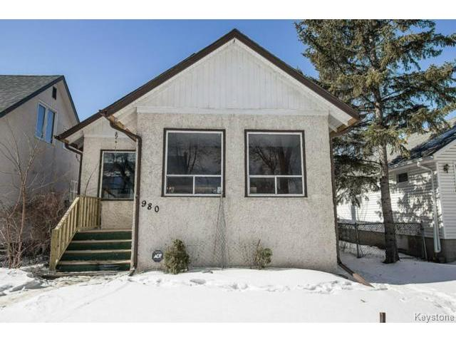 Main Photo: 980 Spruce Street in WINNIPEG: West End / Wolseley Residential for sale (West Winnipeg)  : MLS® # 1504850