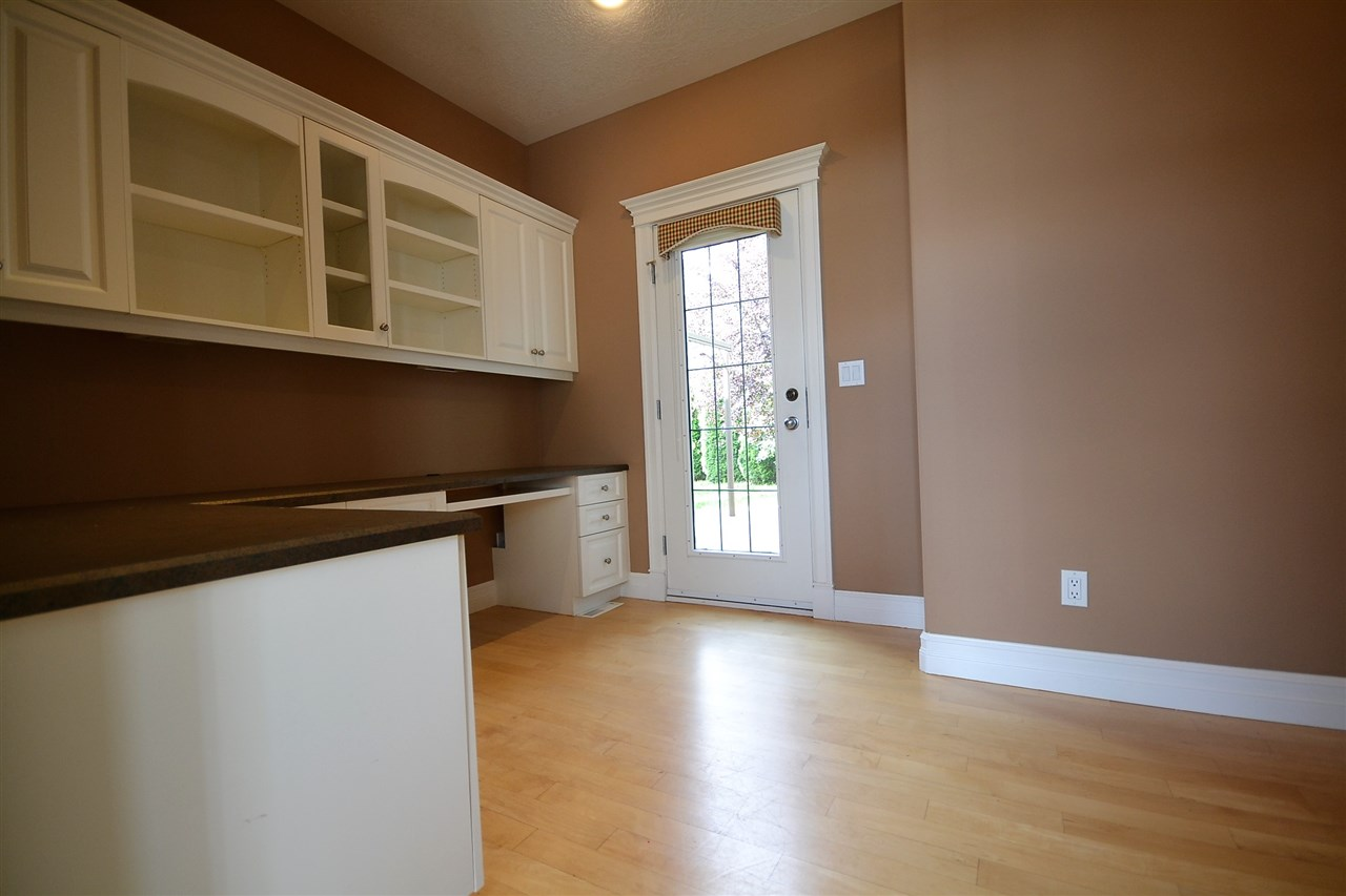Built-in office system. Hardwood floors. French doors to rear deck.