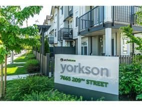 "Main Photo: 35 7665 209 Street in Langley: Willoughby Heights Townhouse for sale in ""Archstone - Willoughby"" : MLS®# R2297287"