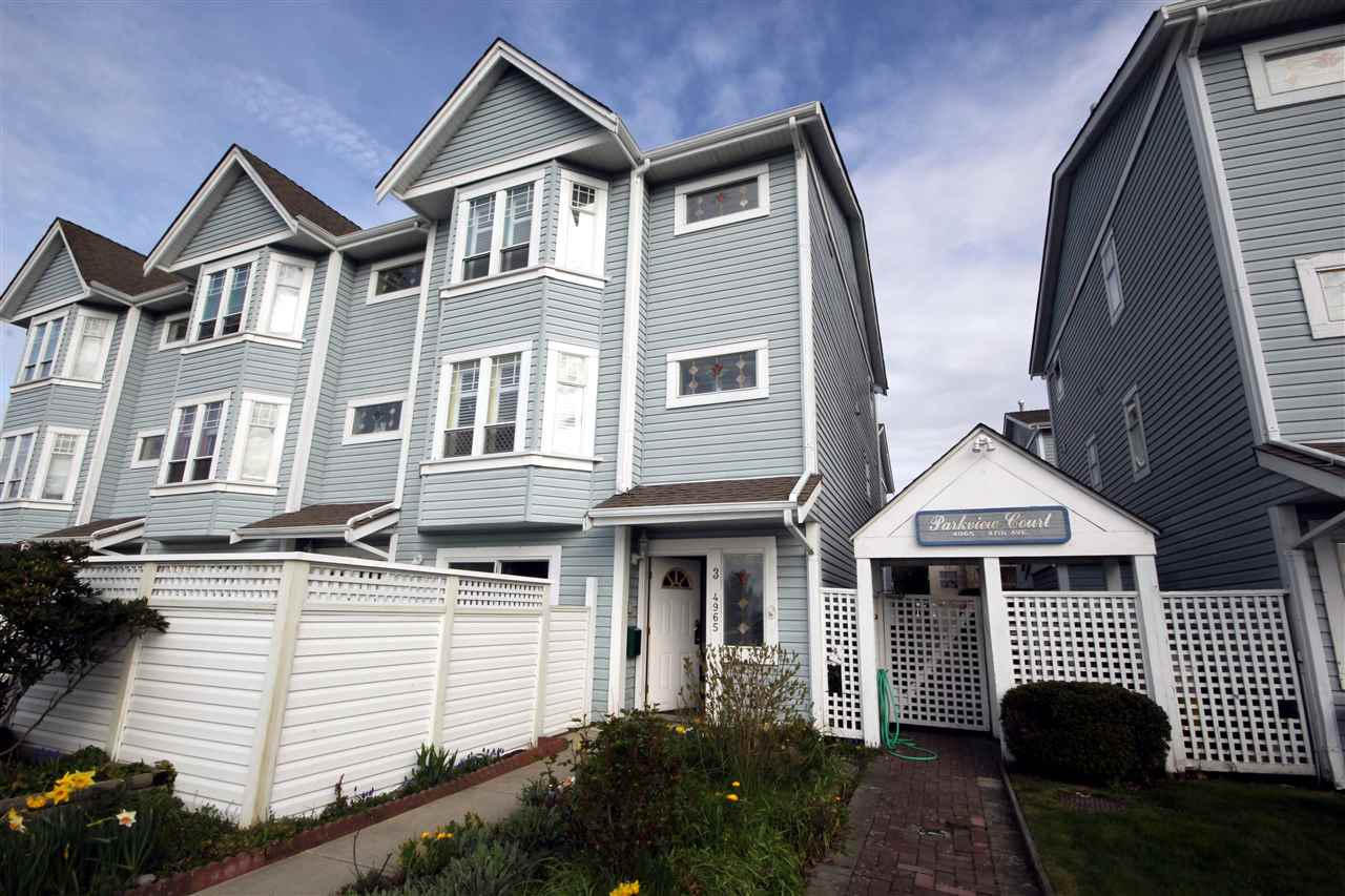 "Main Photo: 3 4965 47 Avenue in Delta: Ladner Elementary Townhouse for sale in ""PARKVIEW COURT"" (Ladner)  : MLS®# R2047955"