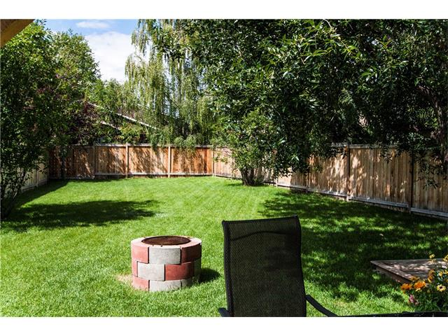 Large fenced west backyard