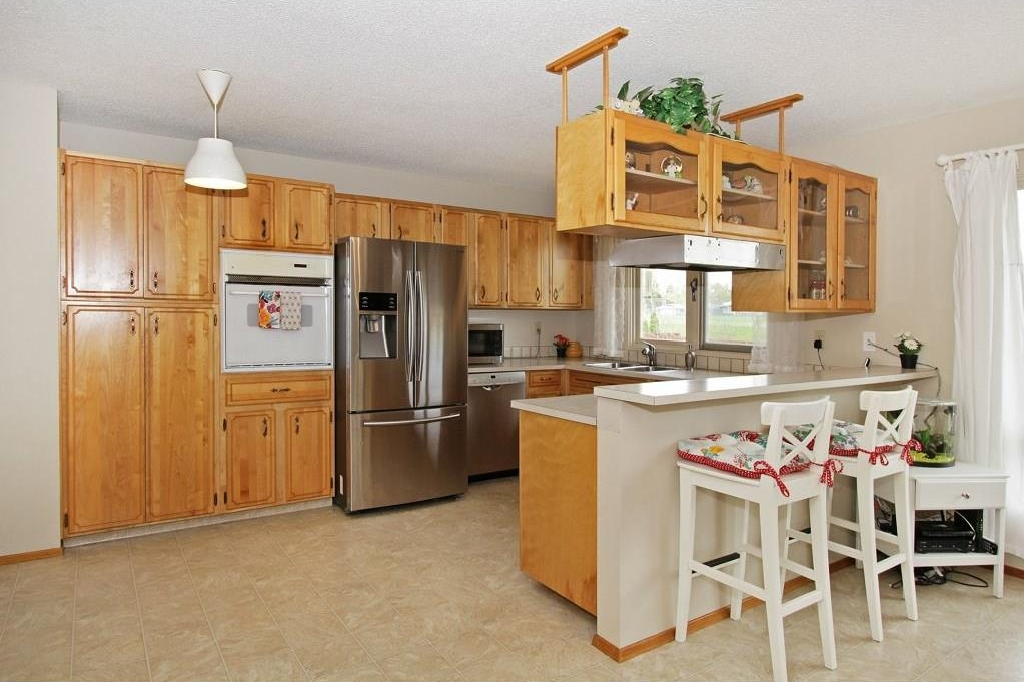 Plenty of cabinetry and upgraded appliances