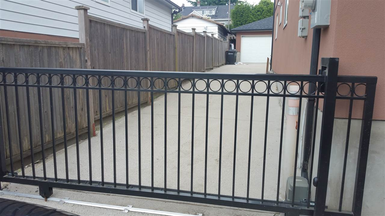 Driveway with power gate for extra security