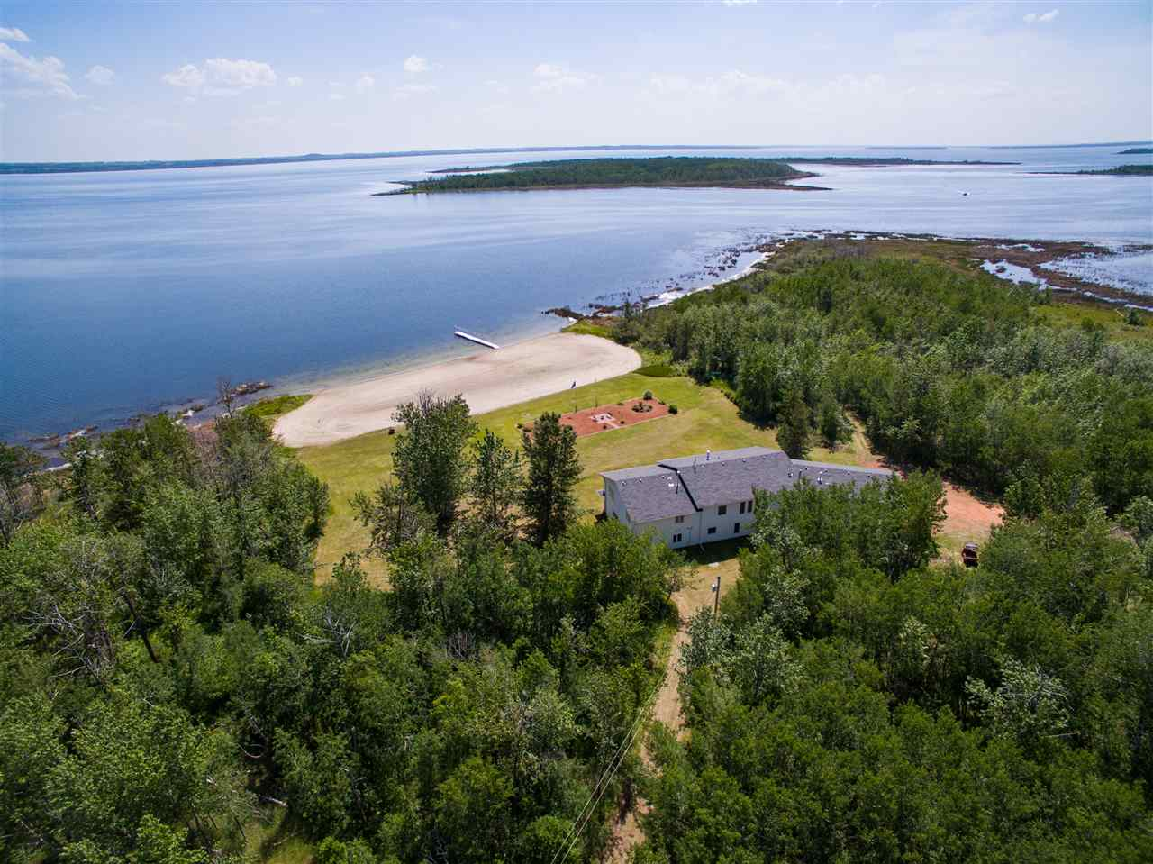This property is a SPECTACULAR!  17.57 Acres with PRIVATE Beach owned right down to the water.  Enjoy all four seasons at this Oasis.