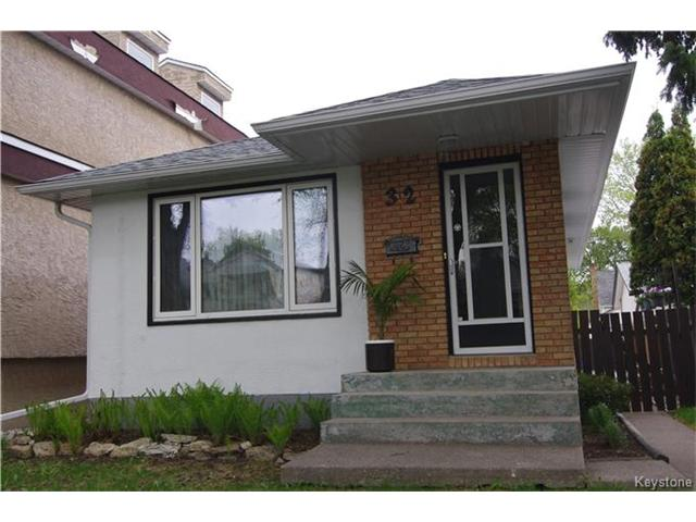 Main Photo: 32 Morley Avenue in Winnipeg: Riverview Residential for sale (1A)  : MLS® # 1712496