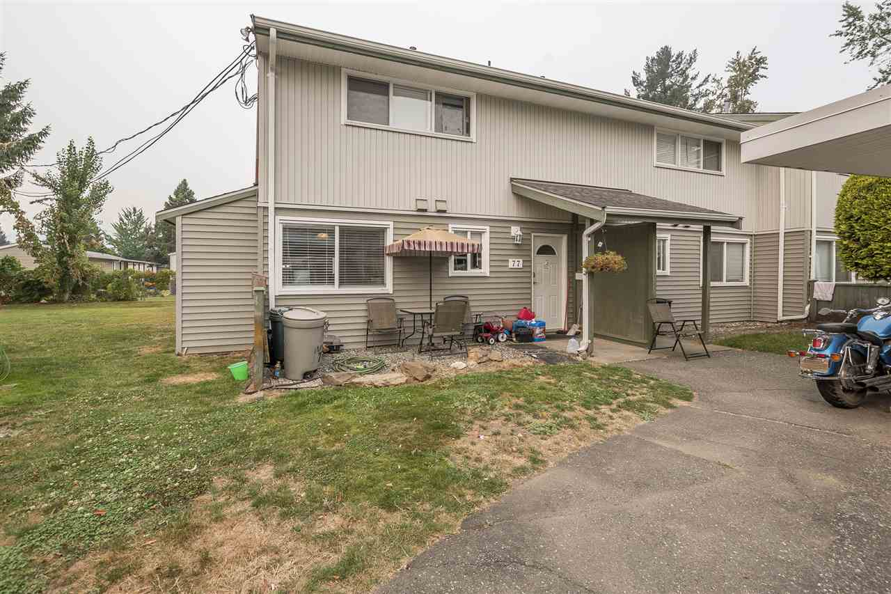 Main Photo: 77 45185 WOLFE Road in Chilliwack: Chilliwack W Young-Well Townhouse for sale : MLS®# R2204825