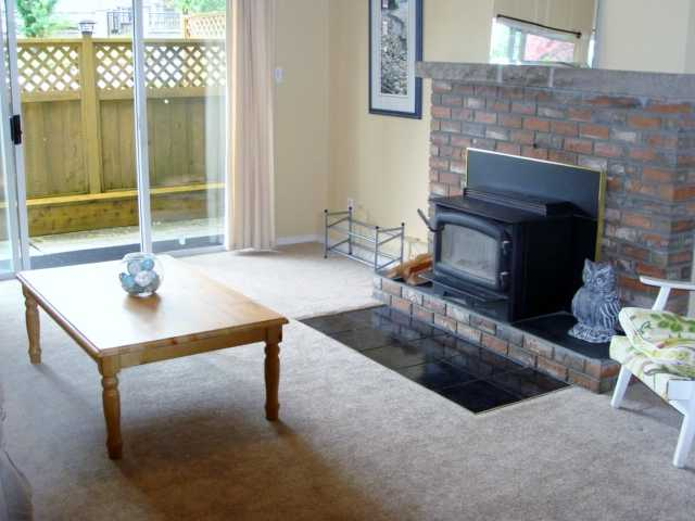 Main floor living room with fireplace