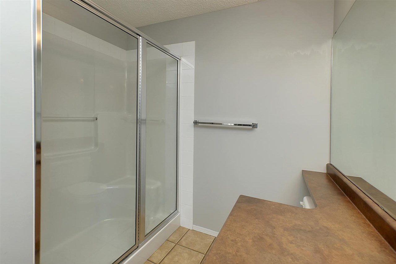 The ensuite boasts a double shower.