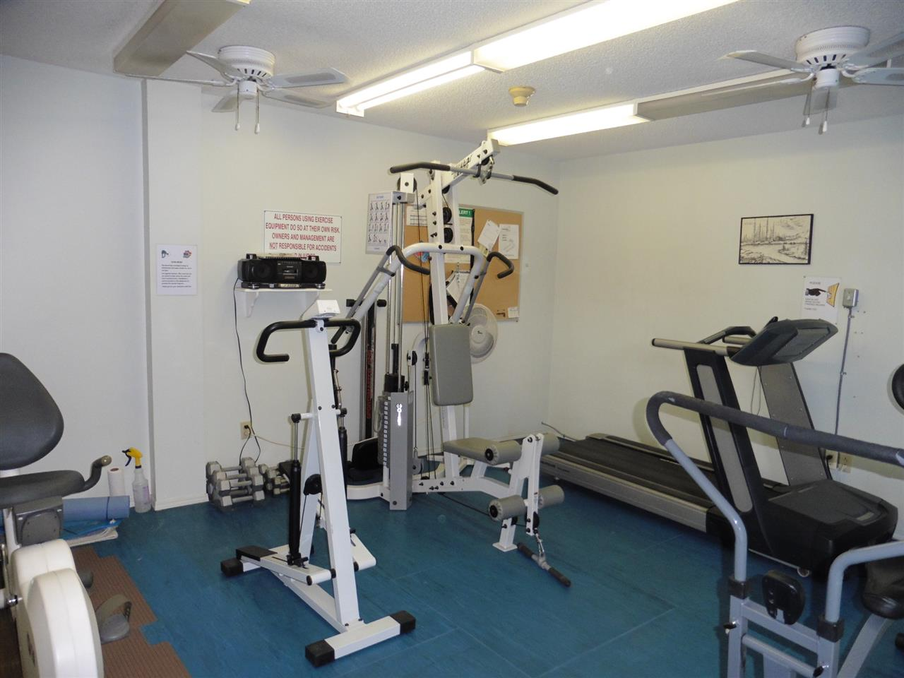 Exercise Room is located just off the pool area.
