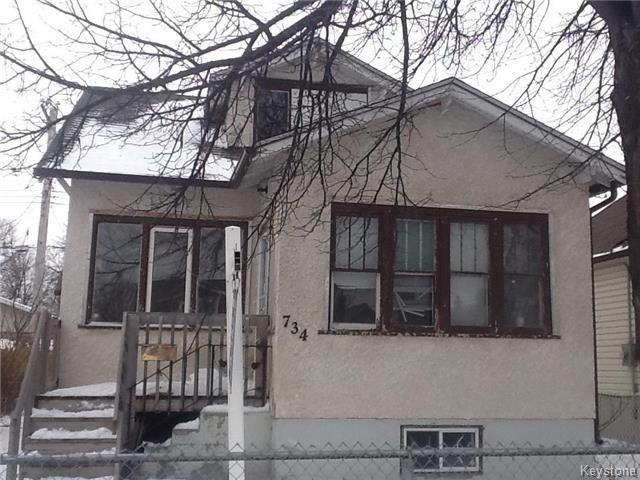 Main Photo: 734 Burrows Avenue in Winnipeg: Residential for sale (4A)  : MLS®# 1729849