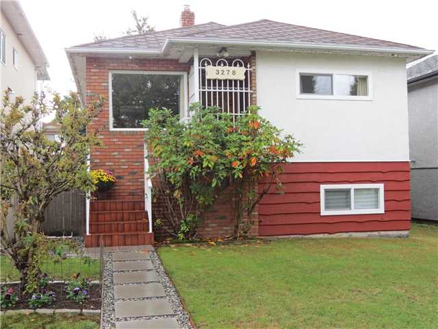 Main Photo: 3278 WILLIAM ST in Vancouver: Renfrew VE House for sale (Vancouver East)  : MLS® # V1030304