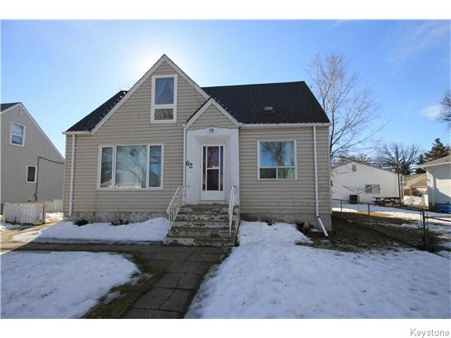Main Photo: 62 Handyside Avenue in Winnipeg: St Vital Residential for sale (South East Winnipeg)  : MLS® # 1605812