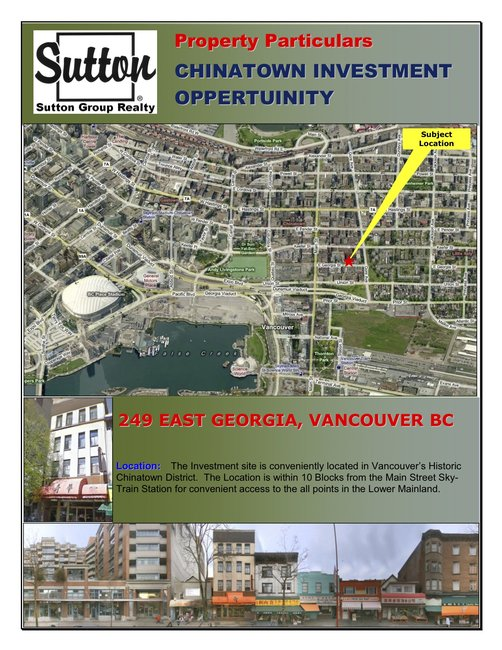 Main Photo: 249 East Georgia in Vancouver: Business with Property for sale