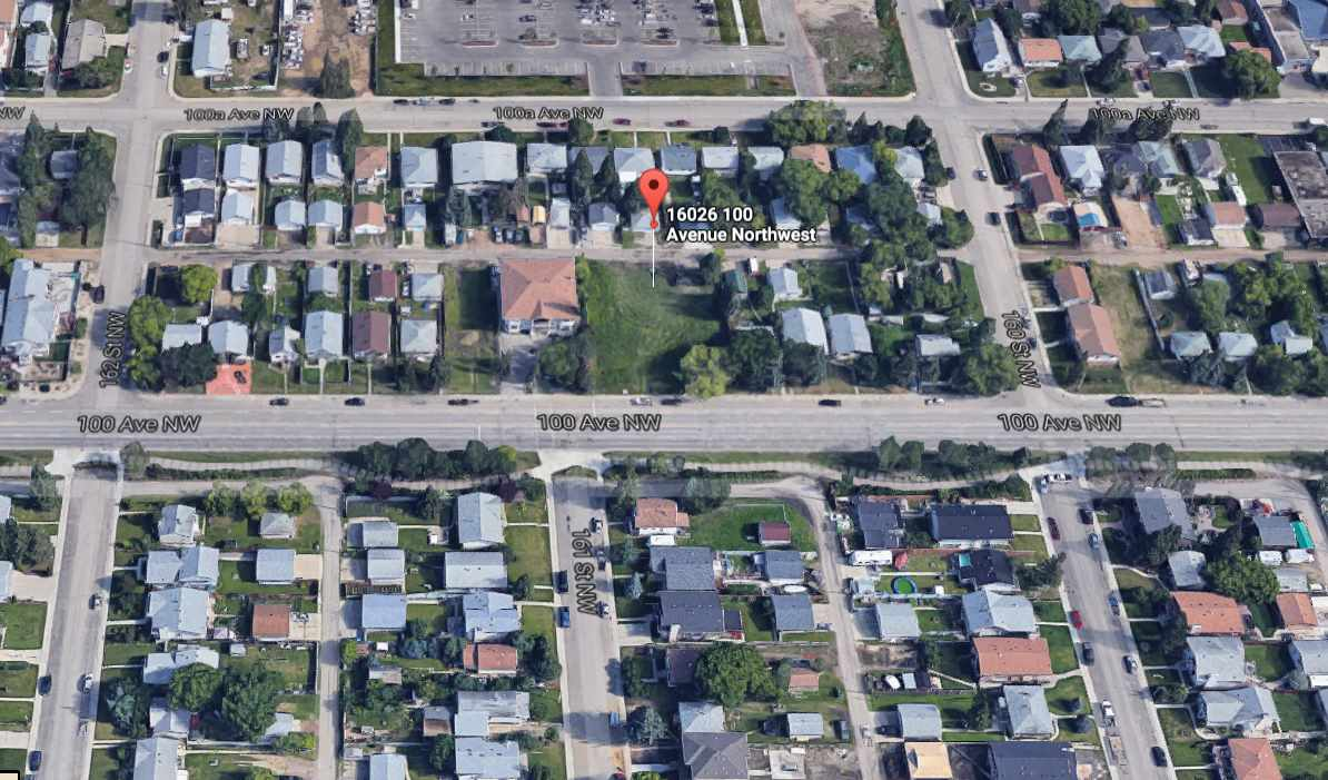 Main Photo: 16026 100 Avenue in Edmonton: Zone 22 Vacant Lot for sale : MLS(r) # E4068952