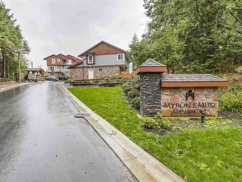 "Main Photo: 6 23651 132 Avenue in Maple Ridge: Silver Valley Townhouse for sale in ""MYRON'S MUSE"" : MLS® # R2216493"