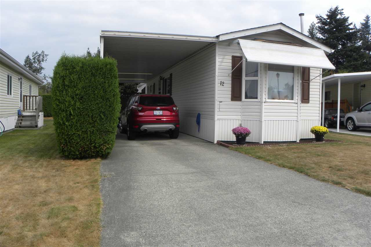 "Main Photo: 12 7610 EVANS Road in Chilliwack: Sardis West Vedder Rd Manufactured Home for sale in ""Cottonwood Village- Gate 4"" (Sardis)  : MLS®# R2299969"
