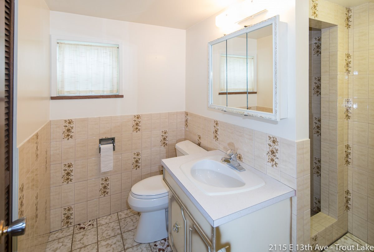 The bathroom down is a 3 piece with a spacious shower.