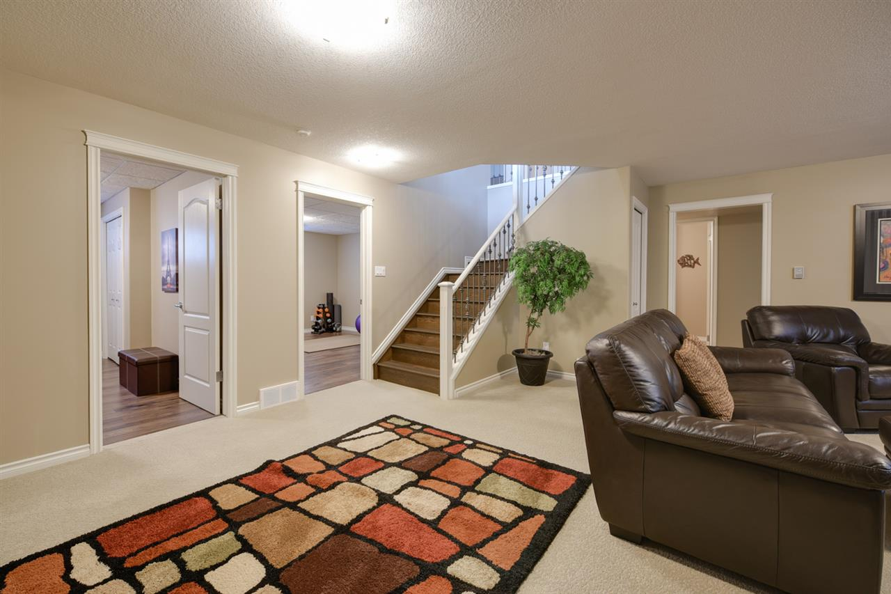 Large family room in basement