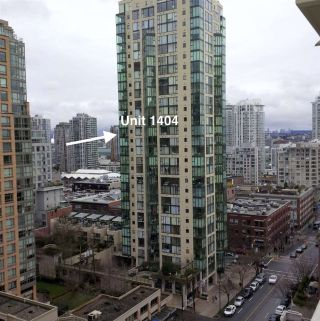 "Main Photo: 1404 1155 HOMER Street in Vancouver: Yaletown Condo for sale in ""CITY CREST"" (Vancouver West)  : MLS®# R2297767"