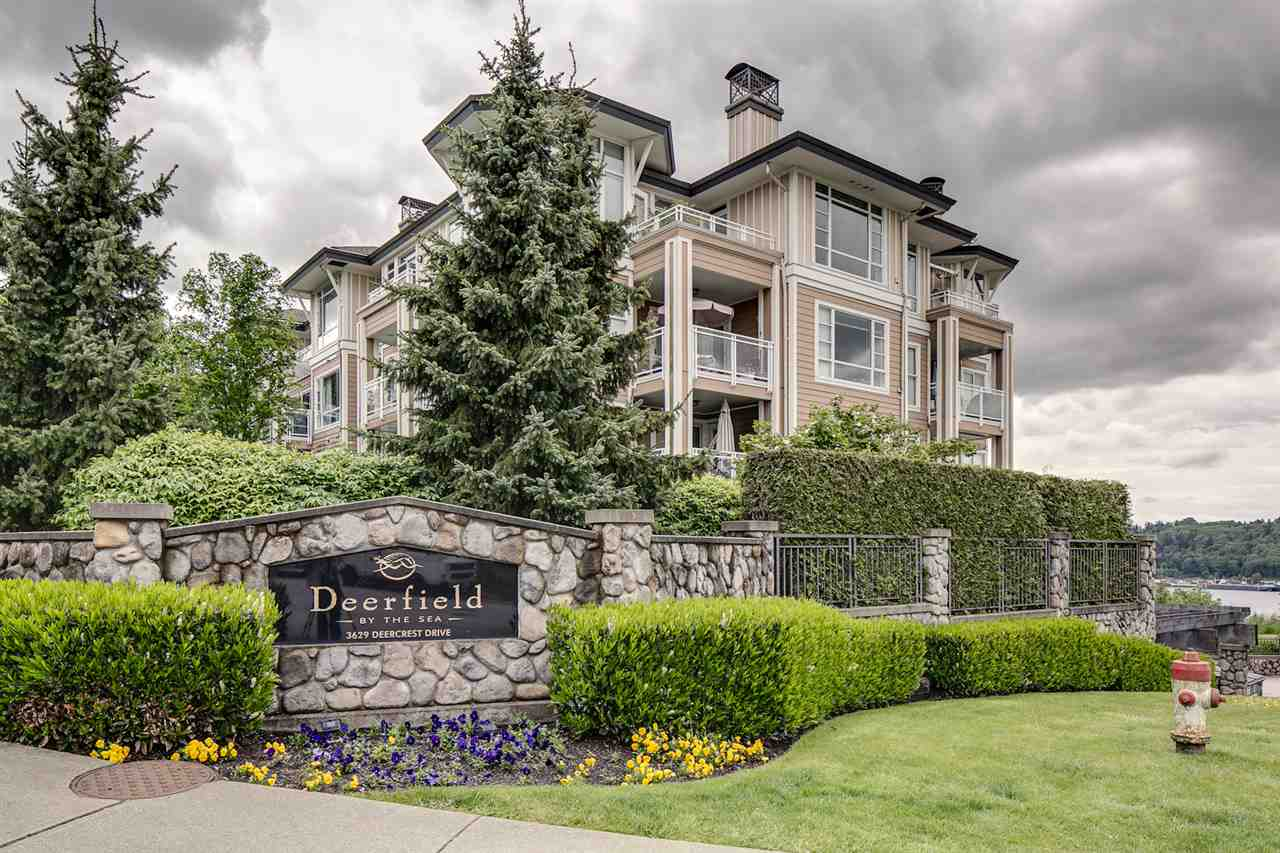 "Main Photo: 419 3629 DEERCREST Drive in North Vancouver: Roche Point Condo for sale in ""DEERFIELD BY THE SEA"" : MLS(r) # R2165310"