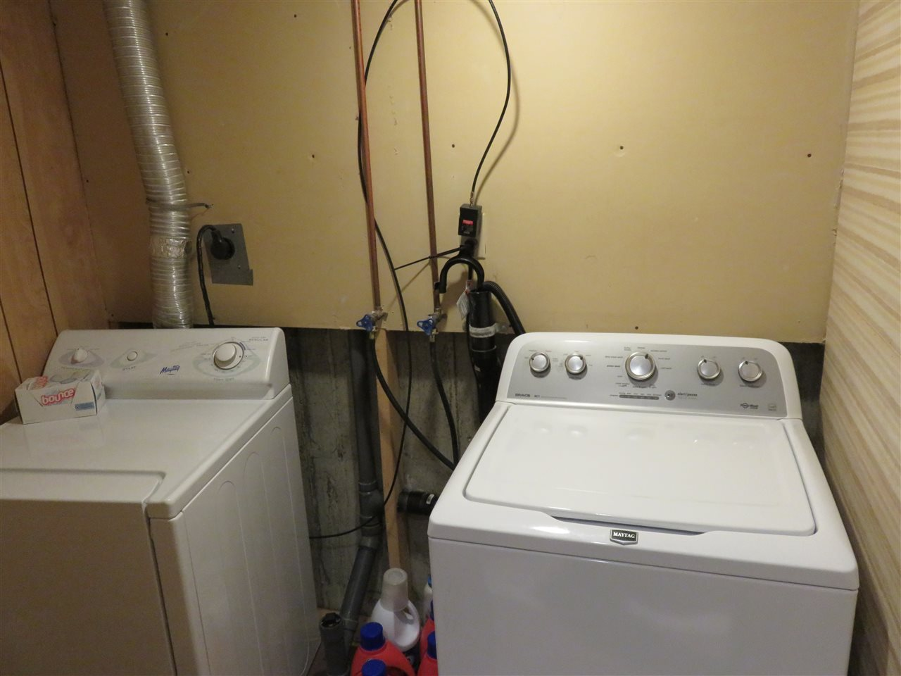 View of the Basement Laundry Room! Note the H.E. Maytag Top Load Washer! :)